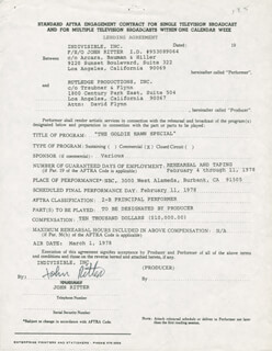 JOHN RITTER - CONTRACT SIGNED