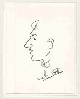 VINCENT PRICE - SELF-CARICATURE SIGNED