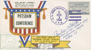 Autographs: ENOLA GAY CREW (PAUL W. TIBBETS) - FIRST DAY COVER SIGNED CO-SIGNED BY: FRANK L. TEIXEIRA