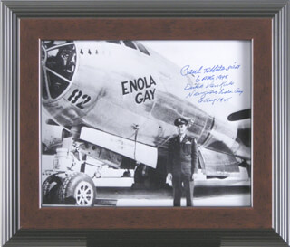 Autographs: ENOLA GAY CREW (PAUL W. TIBBETS) - PHOTOGRAPH SIGNED 08/06/1945 CO-SIGNED BY: ENOLA GAY CREW (THEODORE VAN KIRK)