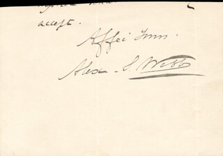 Autographs: GENERAL ALEXANDER S. WEBB - AUTOGRAPH SENTIMENT SIGNED