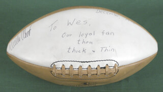 GREEN BAY PACKERS - FOOTBALL SIGNED 1970 CO-SIGNED BY: RAY NITSCHKE, WILLIE WOOD, BOB JETER, DOUG HART, LIONEL ALDRIDGE, JIM FLANIGAN, KEN BOWMAN, DON HORN, BOB BROWN, DONNIE ANDERSON, CARROLL DALE, TRAVIS WILLIAMS, PERRY WILLIAMS, BART STARR, DICK HIMES, FRANCIS PEAY, FRED CARR, KEN ELLIS, MALCOLM WALKER, BILL HAYHOE, RICH MOORE, AL MATTHEWS, DALE LIVINGSTON, GARY M. CARTER, FRANK PATRICK, RICH MCGEORGE, JACK CLANCY, JOHN SPILIS, BILL LUECK, CLARENCE WILLIAMS, CLEO WALKER, MIKE MCCOY, DAVE BRADLEY, JOEY WARREN, LARRY KRAUSE, MICHAEL N. CARTER, JOHN HILTON, ERVIN HUNT
