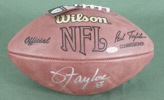 LAWRENCE TAYLOR - FOOTBALL SIGNED