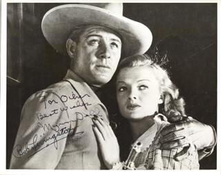 RAIDERS OF RED GAP MOVIE CAST - AUTOGRAPHED INSCRIBED PHOTOGRAPH CO-SIGNED BY: ROBERT LIVINGSTON, MYRNA DELL