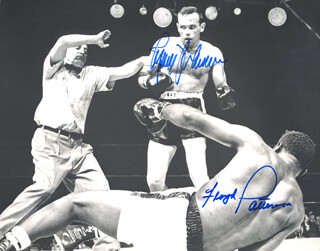 FLOYD PATTERSON - AUTOGRAPHED SIGNED PHOTOGRAPH CO-SIGNED BY: INGEMAR JOHANSSON