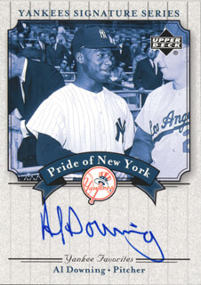 AL LITTLE AL DOWNING - TRADING/SPORTS CARD SIGNED