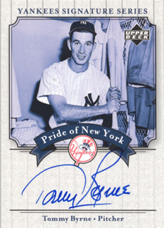Autographs: TOMMY BYRNE - TRADING/SPORTS CARD SIGNED