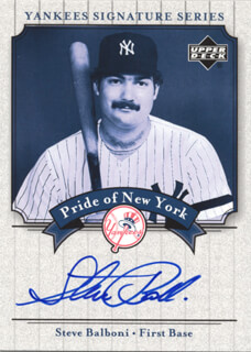 STEVE BALBONI - TRADING/SPORTS CARD SIGNED