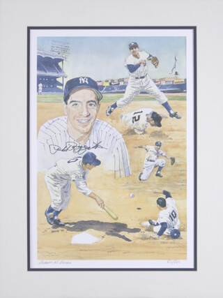 PHIL RIZZUTO - PRINTED ART SIGNED IN INK CO-SIGNED BY: JAMES M. AMORE