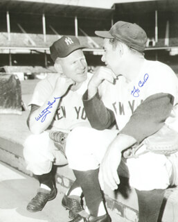 WHITEY FORD - AUTOGRAPHED SIGNED PHOTOGRAPH CO-SIGNED BY: YOGI BERRA