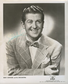 EDDY HOWARD - AUTOGRAPHED SIGNED PHOTOGRAPH