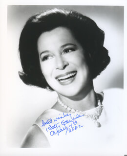 KITTY CARLISLE - AUTOGRAPHED SIGNED PHOTOGRAPH 04/04/2002