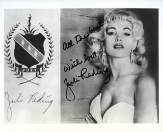 JULI REDING - AUTOGRAPHED SIGNED PHOTOGRAPH