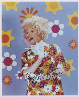 PHYLLIS DILLER - AUTOGRAPHED SIGNED PHOTOGRAPH