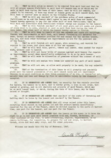 ORVILLE WRIGHT - DOCUMENT SIGNED 02/06/1945