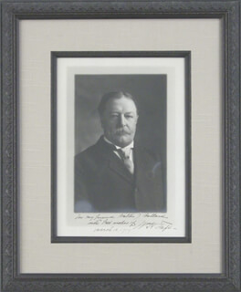 PRESIDENT WILLIAM H. TAFT - AUTOGRAPHED INSCRIBED PHOTOGRAPH 03/10/1909