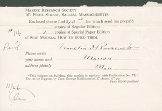 PRESIDENT FRANKLIN D. ROOSEVELT - DOCUMENT SIGNED