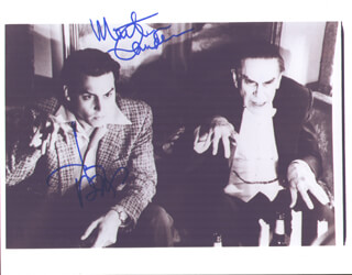 ED WOOD MOVIE CAST - AUTOGRAPHED SIGNED PHOTOGRAPH CO-SIGNED BY: MARTIN LANDAU, JOHNNY DEPP