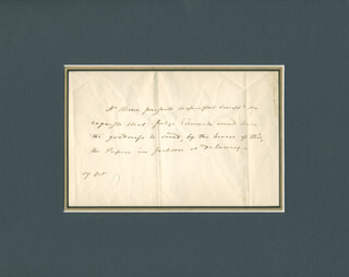 Autographs: VICE PRESIDENT AARON BURR - THIRD PERSON AUTOGRAPH LETTER 10/17