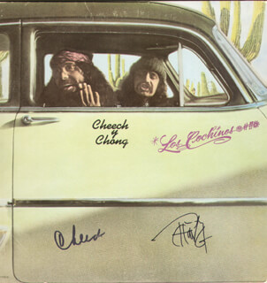 CHEECH & CHONG (CHEECH MARIN) - RECORD ALBUM COVER SIGNED CO-SIGNED BY: CHEECH & CHONG (TOMMY CHONG)