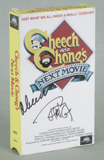 CHEECH & CHONG (CHEECH MARIN) - EPHEMERA SIGNED CO-SIGNED BY: CHEECH & CHONG (TOMMY CHONG)
