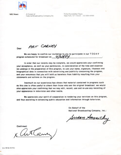 ART CARNEY - DOCUMENT SIGNED