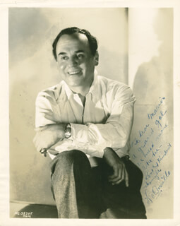 LEO PANCHO CARRILLO - AUTOGRAPHED INSCRIBED PHOTOGRAPH