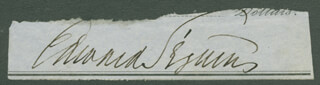 EDWARD SEGUIN - CLIPPED SIGNATURE