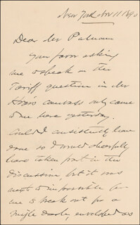 Autographs: MAJOR GENERAL JOSHUA LAWRENCE CHAMBERLAIN - AUTOGRAPH LETTER SIGNED 11/11/1890