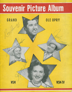 KITTY WELLS - PROGRAM SIGNED CO-SIGNED BY: ROY ACUFF, JOHNNIE WRIGHT, JACK ANGLIN