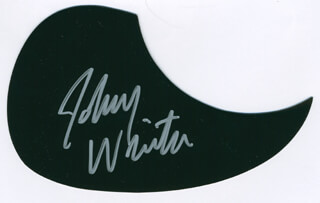 JOHNNY WINTER - PICK GUARD SIGNED