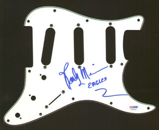 THE EAGLES (RANDY MEISNER) - PICK GUARD SIGNED