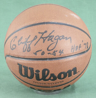 CLIFF HAGAN - BASKETBALL SIGNED