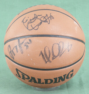GOLDEN STATE WARRIORS - BASKETBALL SIGNED CO-SIGNED BY: ADONAL FOYLE, MIKE DUNLEAVY JR., CALBERT CHEANEY, ERIC DAMPIER, POPEYE JONES, GARRY ST. JEAN