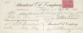 LT. GENERAL SIMON B. BUCKNER - AUTOGRAPHED SIGNED CHECK 09/21/1898