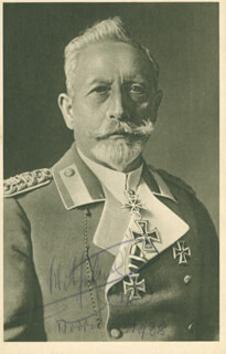 Autographs: KAISER WILHELM II (GERMANY) - PHOTOGRAPH SIGNED 1938
