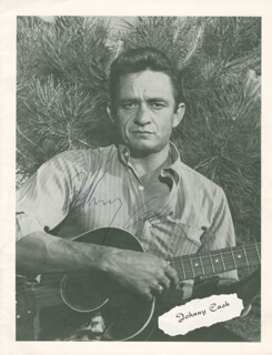 JOHNNY CASH - PROGRAM SIGNED CO-SIGNED BY: JUNE CARTER CASH - HFSID 279516