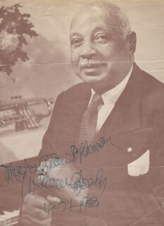 W.C. HANDY - INSCRIBED MAGAZINE PHOTO SIGNED 04/21/1953