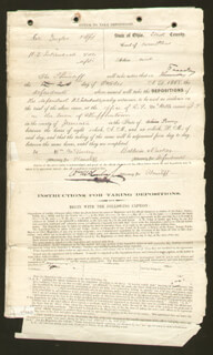 PRESIDENT WILLIAM McKINLEY - MANUSCRIPT DOCUMENT SIGNED 10/20/1868