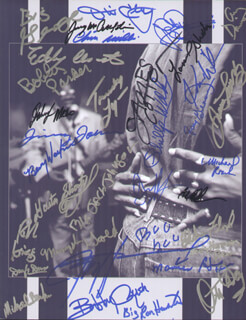 JAMES COTTON - AUTOGRAPHED SIGNED PHOTOGRAPH CO-SIGNED BY: JOHN HAMMOND, BOBBY RUSH, BOBBY PARKER, GUITAR SHORTY (DAVID KEARNEY), JIMMY THACKERY, JIMMY McCRACKLIN, PHILLIP WALKER, BIG JACK JOHNSON, JIMMY JOHNSON, JODY WILLIAMS, EDDY (THE CHIEF) CLEARWATER, LONNIE SHIELDS, BOO BOO DAVIS, EDDIE KNOCK ON WOOD FLOYD, KIM WILSON, BEVERLY GUITAR WATKINS, OTIS CLAY, MACAVINE HAYES, GUY DAVIS, TERRY HARMONICA BEAN, OTIS DAY & THE KNIGHTS (OTIS DAY), THE KINSEY REPORT (DONALD KINSEY), THE KINSEY REPORT (RALPH KINSEY), BIG RON HUNTER, MEMPHIS GOLD (CHESTER CHANDLER) , DARYL DAVIS, MICHAEL BURKS, MICHAEL ROACH, JOHNNY MARS, JOEY GILMORE, TRUDY LYNN, BIG GEORGE JACKSON, ROOT DOCTOR (FREDDIE CUNNINGHAM), CHICK WILLIS - HFSID 279551