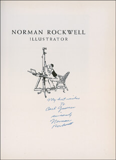 NORMAN ROCKWELL - INSCRIBED BOOK SIGNED