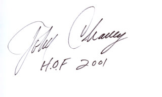 Autographs: JOHN CHANEY - SIGNATURE(S)