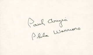 Autographs: PAUL ARIZIN - SIGNATURE(S)