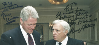 Autographs: PRESIDENT WILLIAM J. BILL CLINTON - INSCRIBED PHOTOGRAPH SIGNED CO-SIGNED BY: GENE AUTRY
