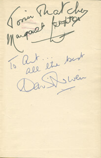 BONNIE PRINCE CHARLIE MOVIE CAST - INSCRIBED BOOK SIGNED CO-SIGNED BY: DAVID NIVEN, MARGARET LEIGHTON