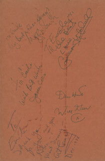 JAMES JIMMY COCO - BOOK PAGE SIGNED CO-SIGNED BY: WILL A. GEER, CAMERON MITCHELL, DAME MAGGIE SMITH, ART CARNEY