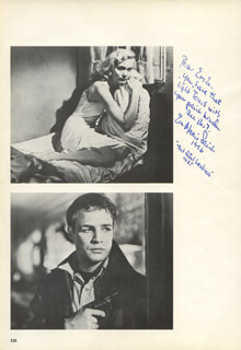 EVA MARIE SAINT - INSCRIBED BOOK PHOTOGRAPH SIGNED