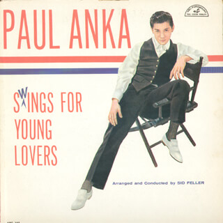 PAUL ANKA - RECORD ALBUM COVER SIGNED
