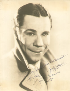 JOE E. BROWN - AUTOGRAPHED INSCRIBED PHOTOGRAPH 11/17/1932