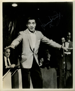 SAMMY DAVIS JR. - AUTOGRAPHED SIGNED PHOTOGRAPH
